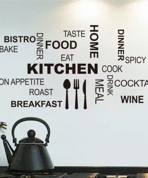 Kitchen kvalitná nálepka na stenu z PVC, 30 x 58 cm