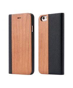Knižkové drevené púzdro na iPhone 7 Plus zo svetlého dreva