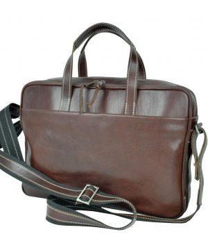 e00e9a4d72 Luxusná kožená taška na notebook v hnedej farbe č.8367 · Luxusné a ...