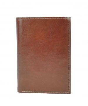 Luxusná kožená dokladovka č.8204 v hnedej farbe