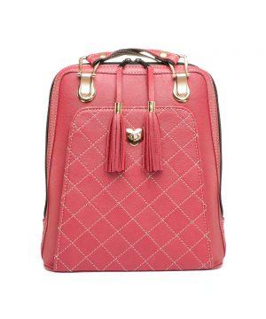 Krásny, exkluzívny a luxusný kožený ruksak.Koža je na dotyk veľmi jemná, má hladký povrch, ľahko sa udržuje čistá, stačí utrieť vlhkou handrou