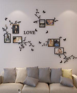 Kvalitná 3D nálepka na stenu Love rámiky na fotografie