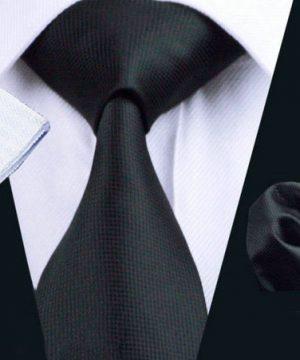 Luxusný kravatový set Bary - kravata + manžety + vreckovka , č.1