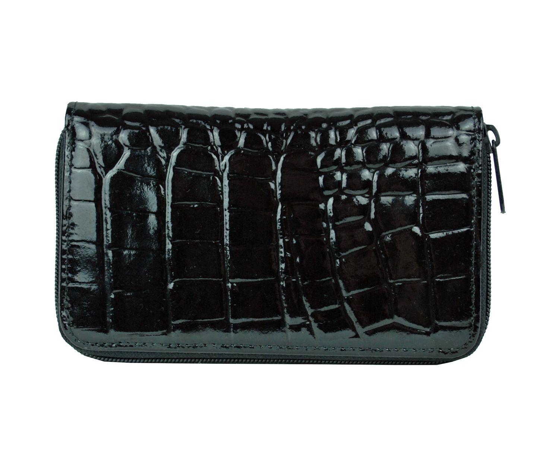 Luxusná lakovaná kožená peňaženka č.8627 v čiernej farbe  36096b38274