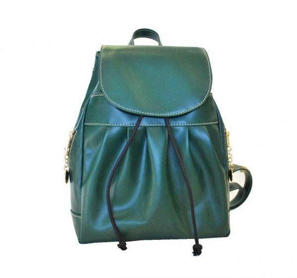 Luxusný dámsky módny ruksak 8665k v zelenej farbe