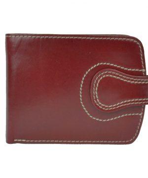 Luxusná elegantná kožená peňaženka č.8467 v červenej farbe