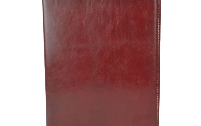Luxusná elegantná kožená spisovka č.8673 v bordovej farbe