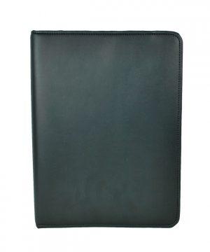 Luxusná elegantná kožená spisovka č.8673 v čiernej farbe