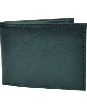 Luxusná elegantná peňaženka z pravej kože č.8552 v čiernej farbe