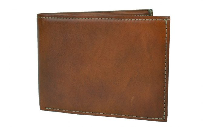 Luxusná elegantná peňaženka z pravej kože č.8552 v slabo hnedej farbe