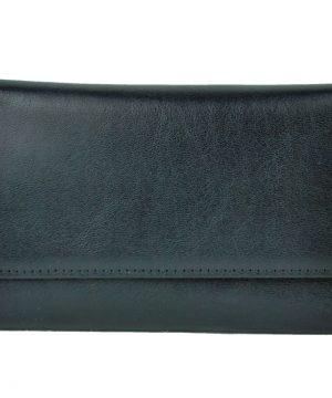 Luxusná elegantná peňaženka z pravej kože č.8559 v čiernej farbe