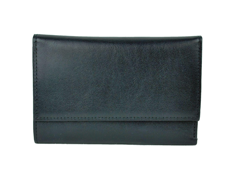 1d59ea63c Luxusná elegantná peňaženka z pravej kože č.8559 v čiernej farbe ...