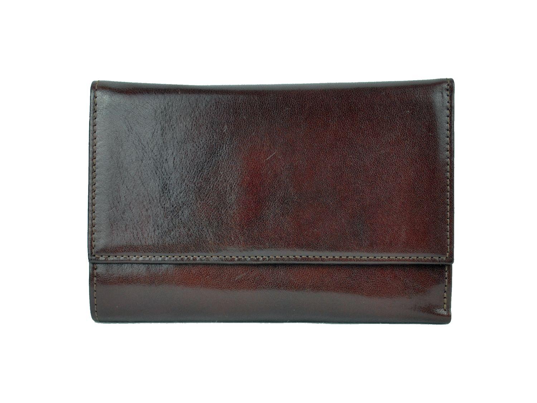 9722105549 Luxusná elegantná peňaženka z pravej kože č.8559 v tmavo hnedej farbe