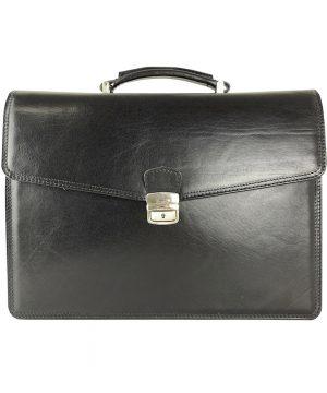 Luxusná kožená aktovka z kvalitnej a odolnej talianskej kože. Aktovka je plochá taška slúžiaca ako elegantné púzdro na uloženie rôznych spisov a dokumentov