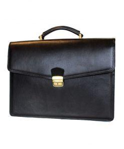 Luxusná kožená aktovka č.8131 v čiernej farbe