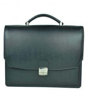 2d210e8b69 Luxusná kožená taška na notebook v čiernej farbe č.8367 · Luxusné a ...