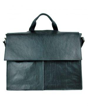 Luxusná kožená aktovka z prírodnej kože č.8388 v čiernej farbe