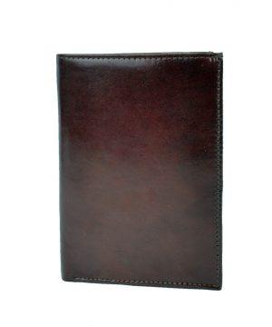 Luxusná kožená dokladovka č.8204 v tmavo hnedej farbe