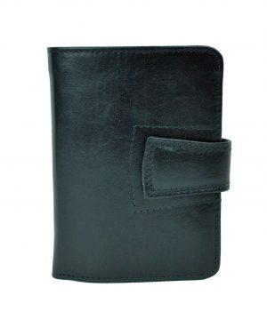 Luxusná kožená elegantná peňaženka č.8464 v čiernej farbe