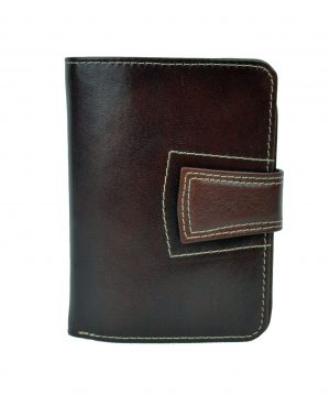 Luxusná kožená elegantná peňaženka č.8464 v hnedej farbe