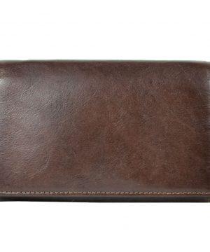 Luxusná kožená peňaženka č.8542 v tmavo hnedej farbe