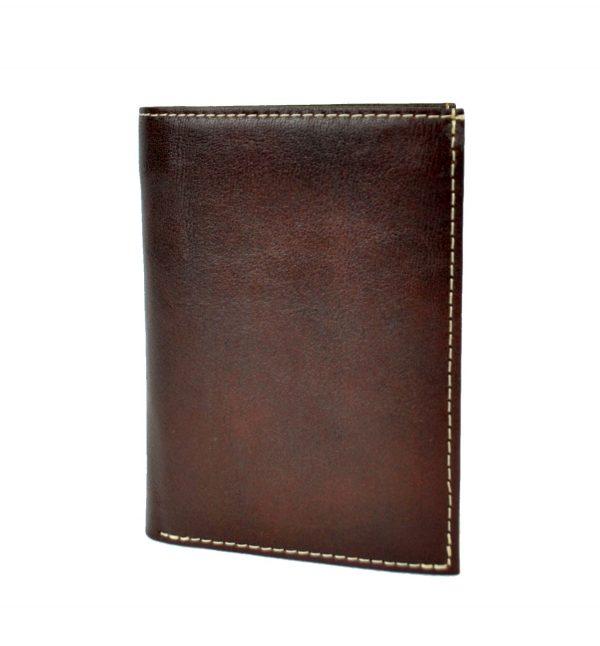 Luxusná kožená peňaženka č.8560 v tmavo hnedej farbe