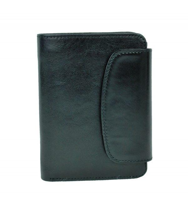 Luxusná kožená peňaženka č.8511 v čiernej farbe