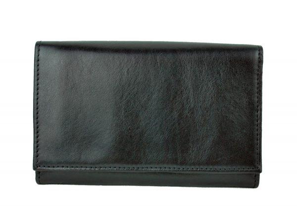 Luxusná kožená peňaženka č.8542 v čiernej farbe