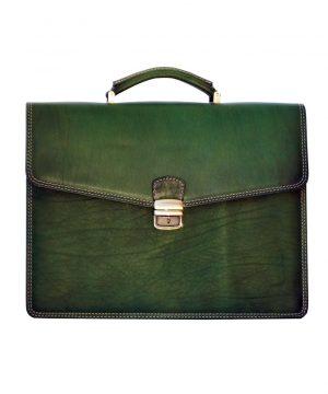 Luxusná kožená pracovná aktovka v zelenej farbe č.8129 (Limitovaná edícia)