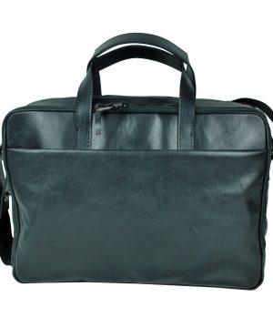 Luxusná kožená taška na notebook v čiernej farbe č.8367