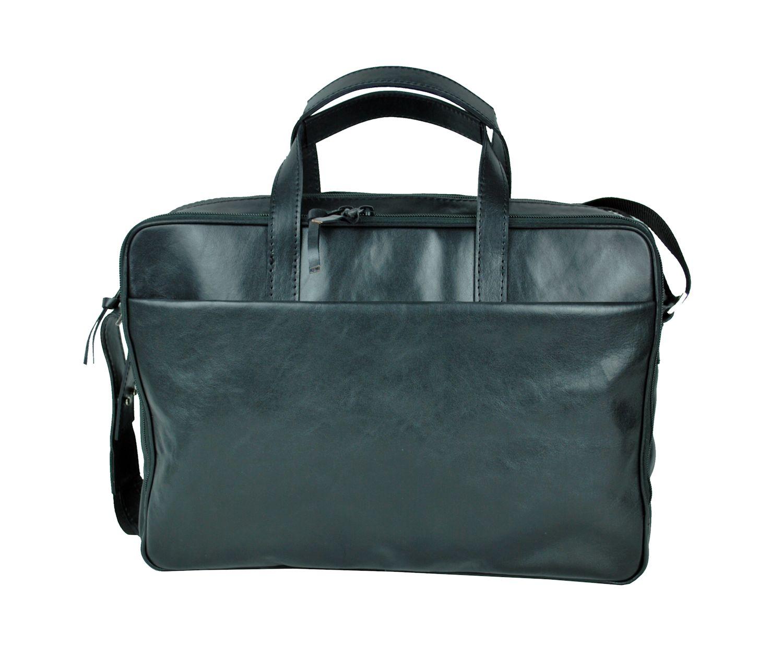 bfdc14ca05 Luxusná kožená taška na notebook v čiernej farbe č.8367 · Luxusné a ...