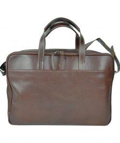 Luxusná kožená taška na notebook v hnedej farbe č.8367