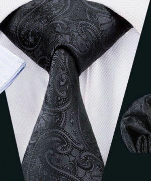 Luxusná kravatová sada Bary - kravata + manžety + vreckovka , č.8