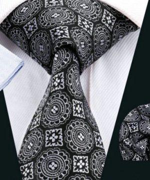 Luxusná kravatová sada Bary - kravata + manžety + vreckovka , č.9