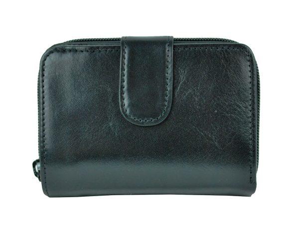 Luxusná kvalitná kožená peňaženka č.8148 v čiernej farbe