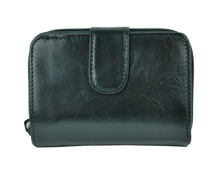 Luxusná kvalitná kožená peňaženka č.8148 v čiernej farbe  19d3d044144