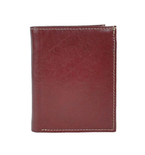 Luxusná moderná kožená dokladovka č.8194 v červenej farbe