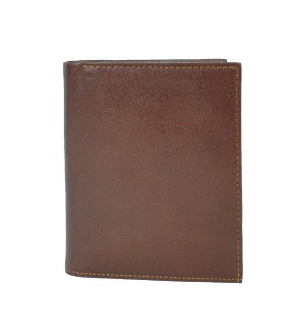 Luxusná moderná kožená dokladovka č.8194 v hnedej farbe
