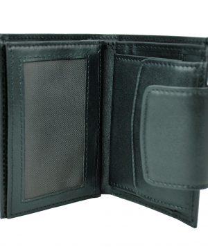 Luxusná moderná kožená peňaženka č.8211 v čiernej farbe