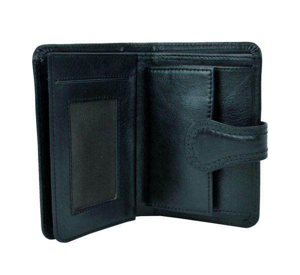 Luxusná moderná kožená peňaženka č.8462 v čiernej farbe