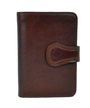 Luxusná moderná kožená peňaženka č.8462 v hnedej farbe