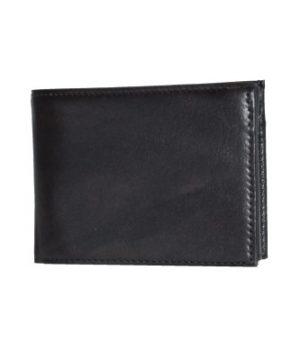 Luxusná moderná kožená peňaženka č.8553 v čiernej farbe