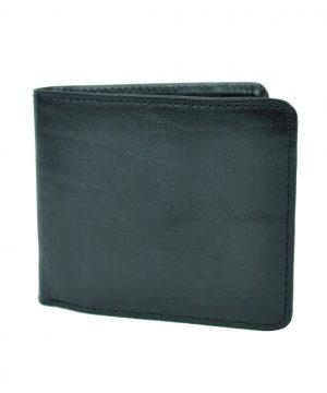 Luxusná peňaženka z prírodnej kože č.7992 v čiernej farbe