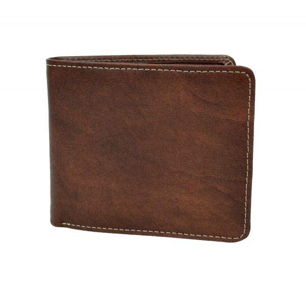 Luxusná peňaženka z prírodnej kože č.7992 v tmavo hnedej farbe