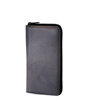Luxusná ručne tamponovaná kožená peňaženka č.8606/2 v šedej farbe