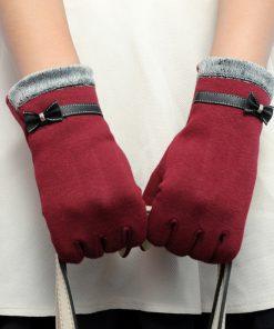 Luxusné bavlnené dámske rukavice v rôznych farbách