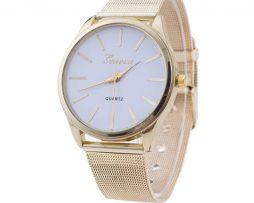 Luxusné dámske hodinky v zlatom prevedení s rôznymi farebnými ciferníkmi afa4667a496