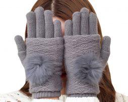 e0031c9e79494 Luxusné dvojdielne dámske rukavice z bavlny v rôznych farebných prevedeniach