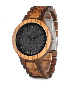 Luxusné jedinečné pánske hodinky v drevenom prevedení