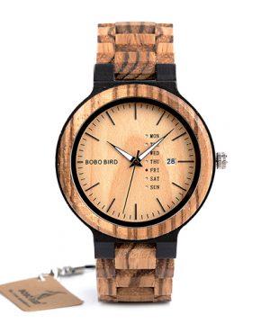 Luxusné pánske hodinky Bobo Bird v drevenom prevedení